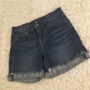 GAP Denim Shorts Raw Edge Cuffed High Rise
